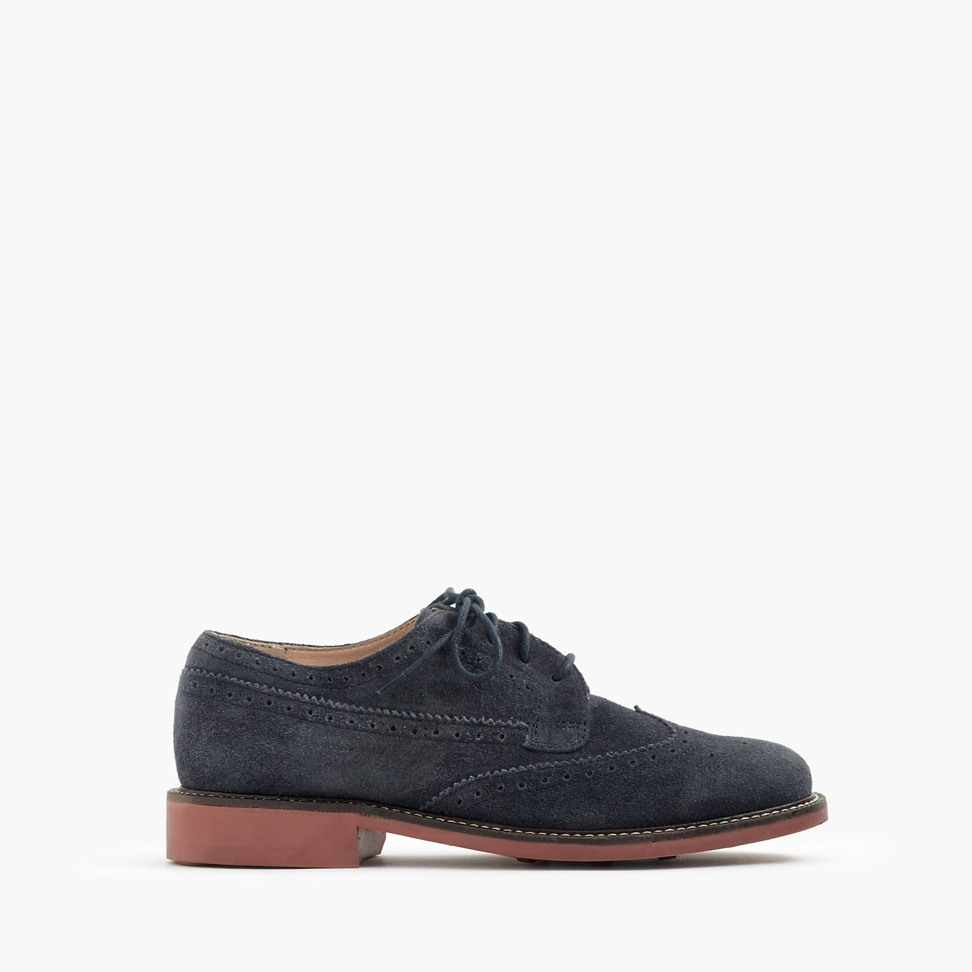 kids' suede wing tips : boys' shoes