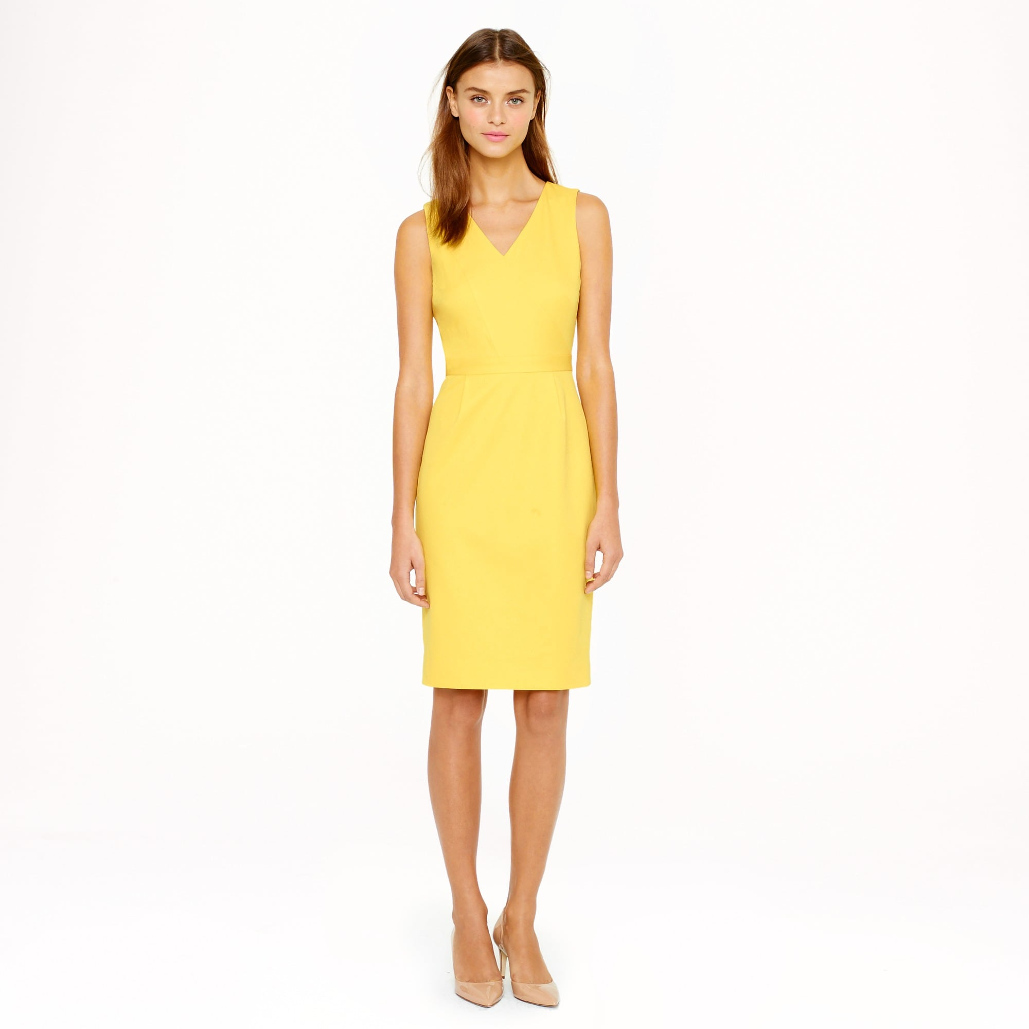 Seamed stretch cotton dress