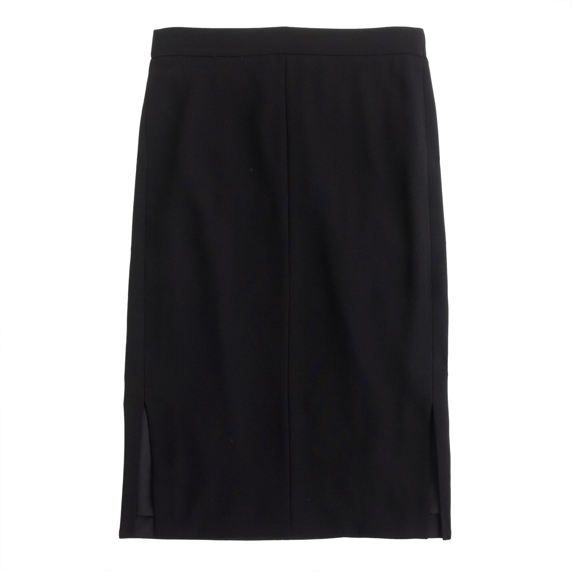 side-slit soft pencil skirt : women pencil