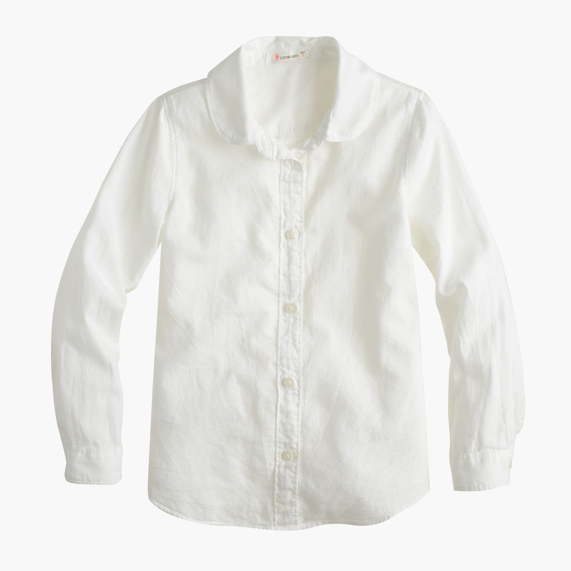 Image 1 for Girls' Wendy shirt in tissue oxford cloth