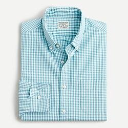 Slim stretch Secret Wash shirt in organic cotton classic gingham