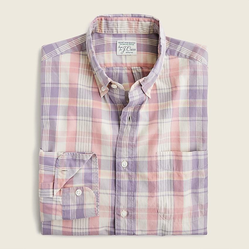 Jcrew Slim Stretch Secret Wash organic cotton poplin shirt in gingham