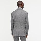 Ludlow Slim-fit unstructured suit jacket in English wool-cotton herringbone