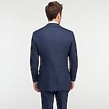 Ludlow Essential Slim-fit suit jacket in blue glen plaid stretch four-season wool