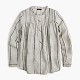 Ruffleneck classic popover shirt in shadow stripe