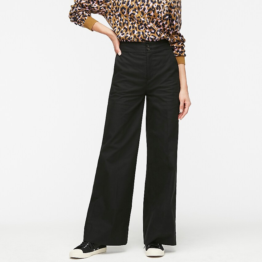 j.crew: frankie pant in stretch twill for women, right side, view zoomed
