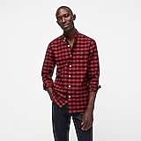 American Pima cotton oxford shirt with mechanical stretch in mini check