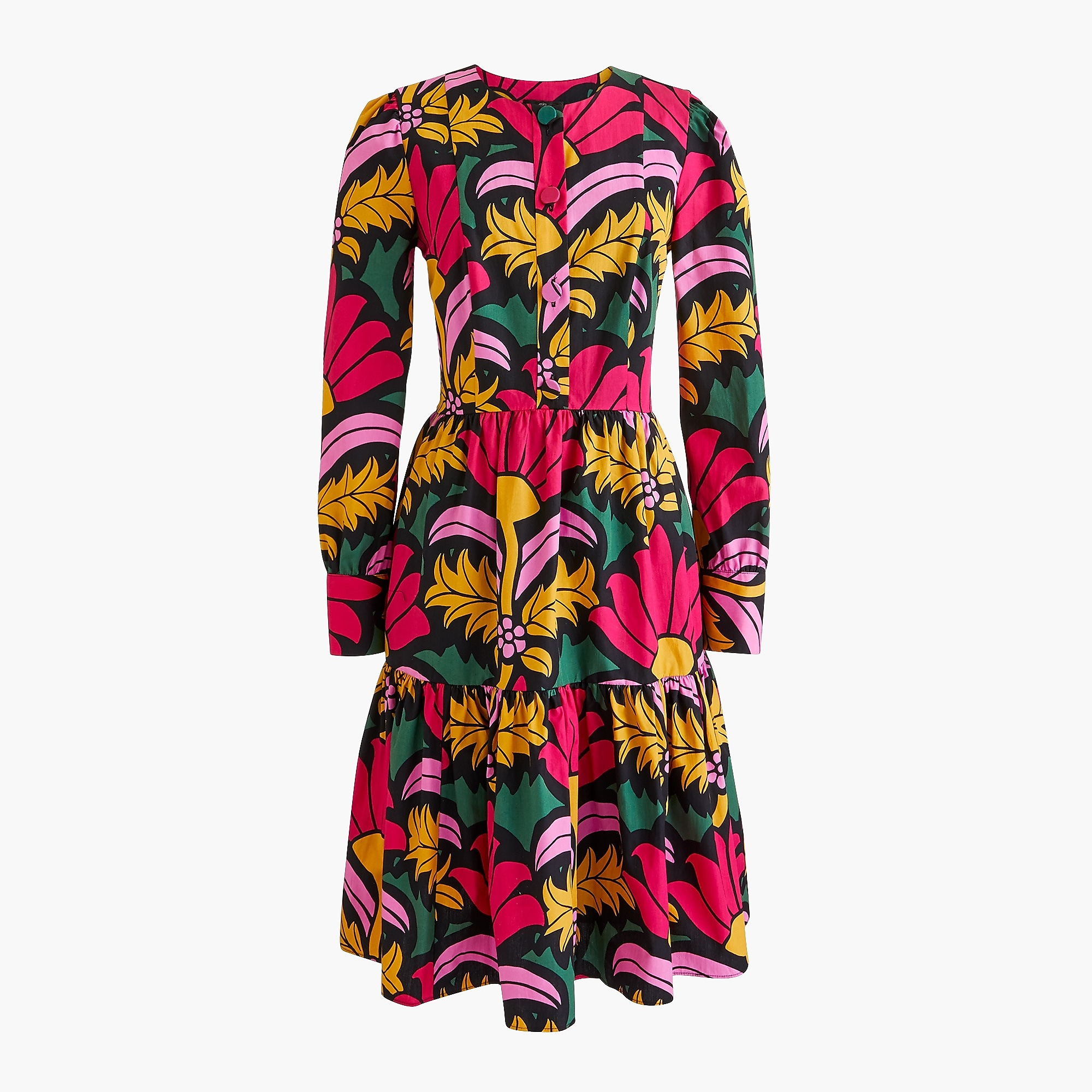 Fiori Grandi.J Crew Tiered Dress In Ratti Grandi Fiori Print For Women
