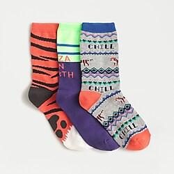Kids' trouser socks three-pack