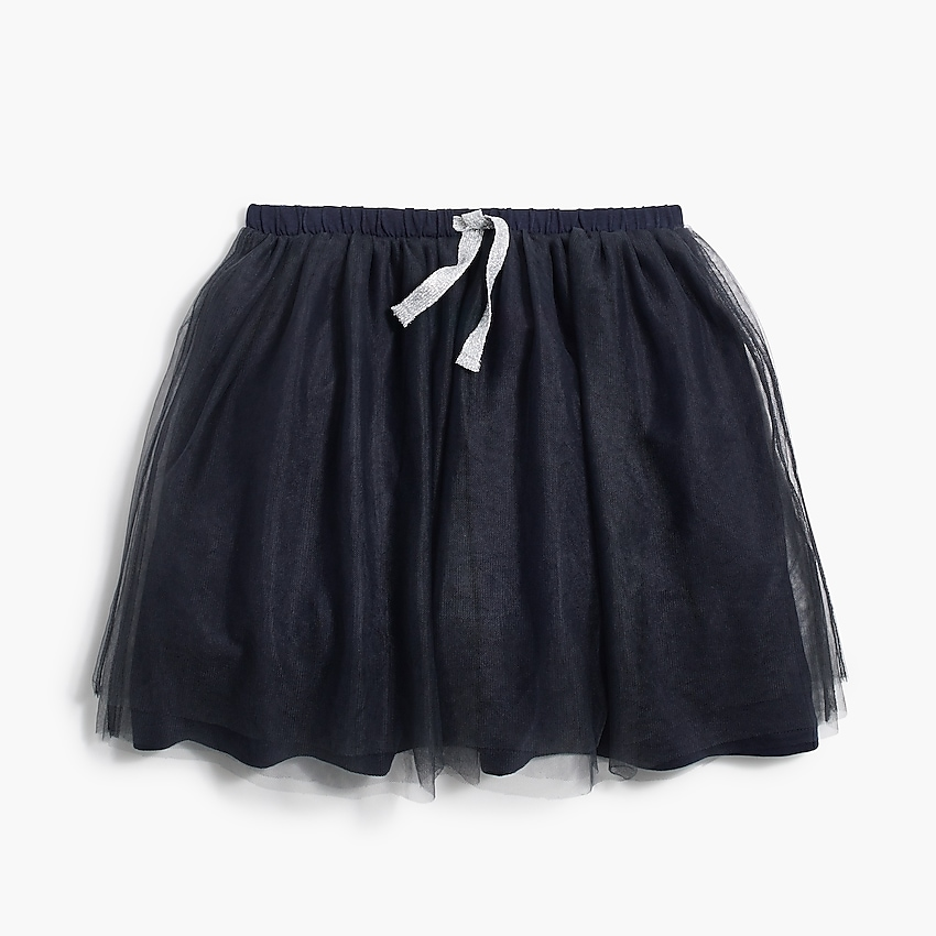 j.crew factory: <b>girls' tulle skirt</b>, right side, view zoomed