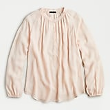 Long-sleeve drapey popover top