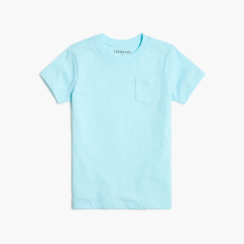 j.crew factory: kids' jersey pocket tee for boys, right side, view zoomed