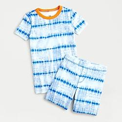 Kids' short pajama set in tie-dye