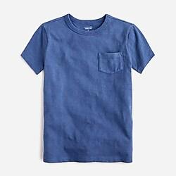 Kids' garment-dyed pocket T-shirt