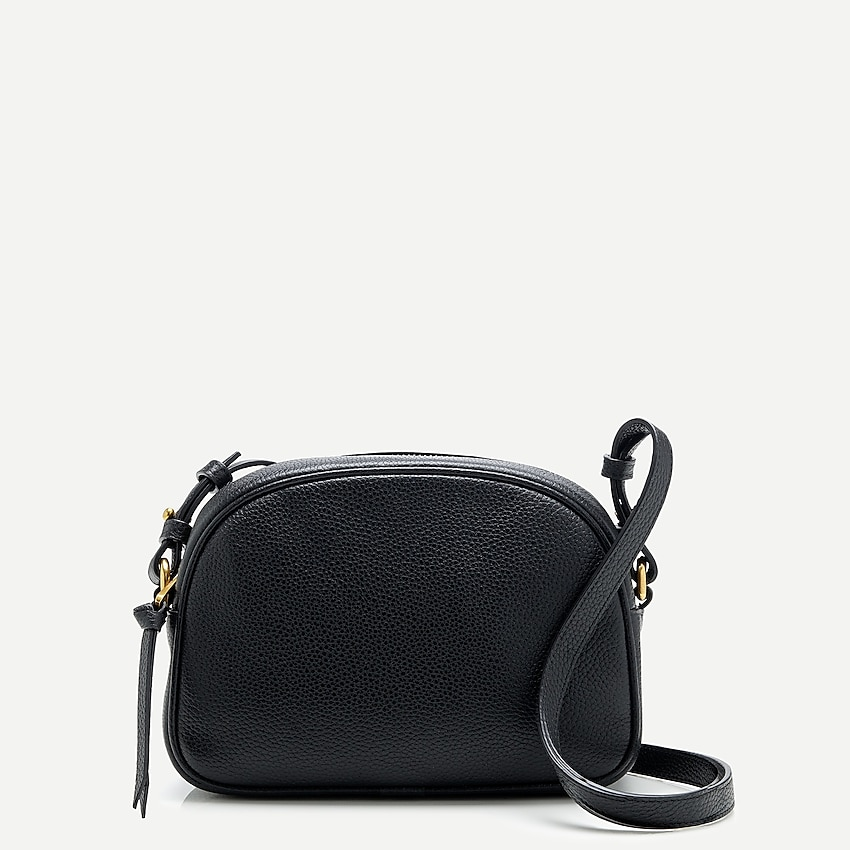 j.crew: devon camera bag with detachable strap for women, right side, view zoomed