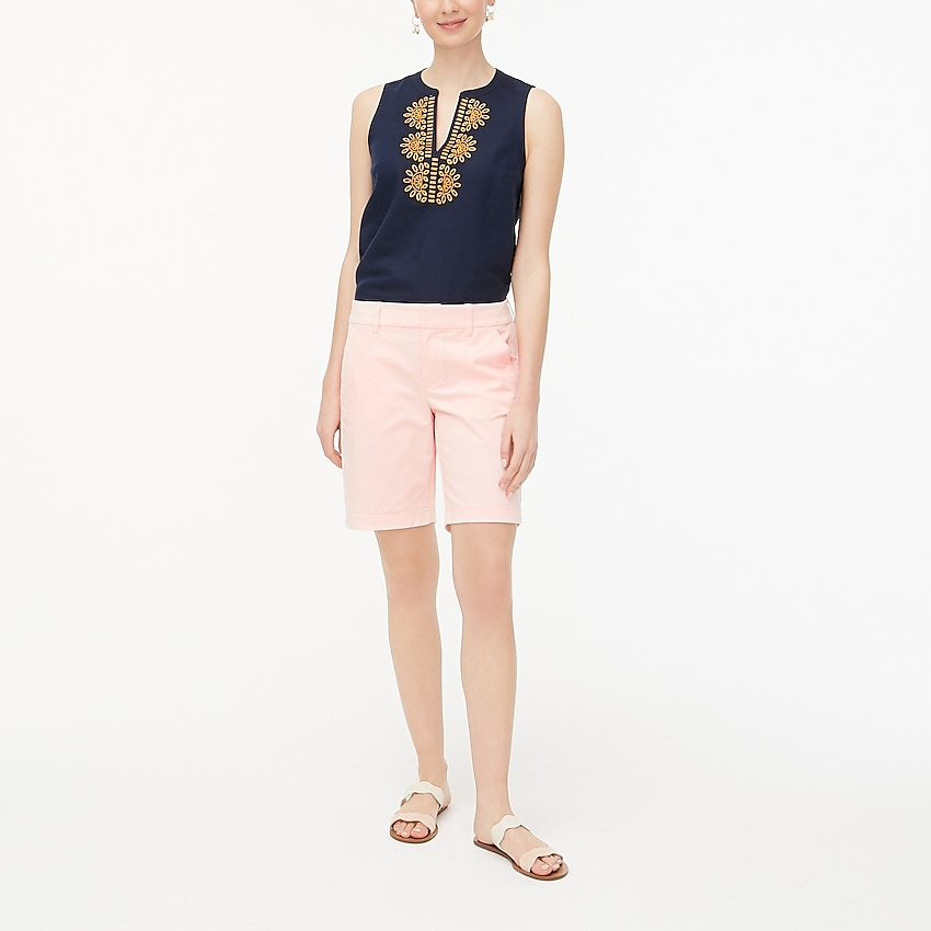 j.crew factory: 9 frankie bermuda chino short for women, right side, view zoomed