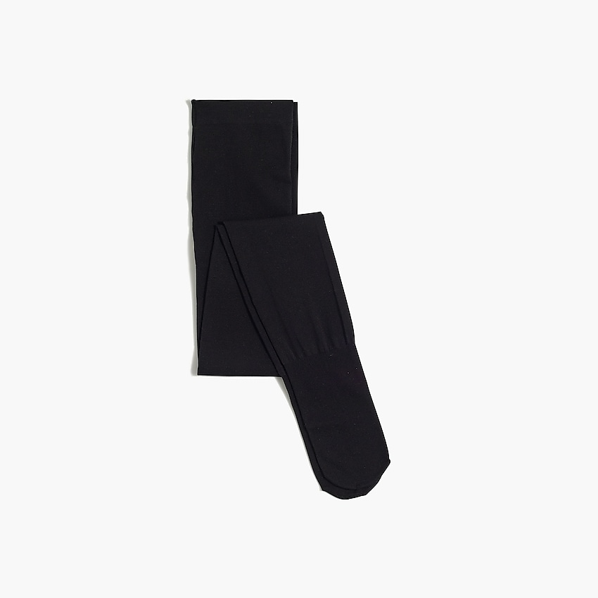 j.crew factory: girls' solid nylon tights, right side, view zoomed
