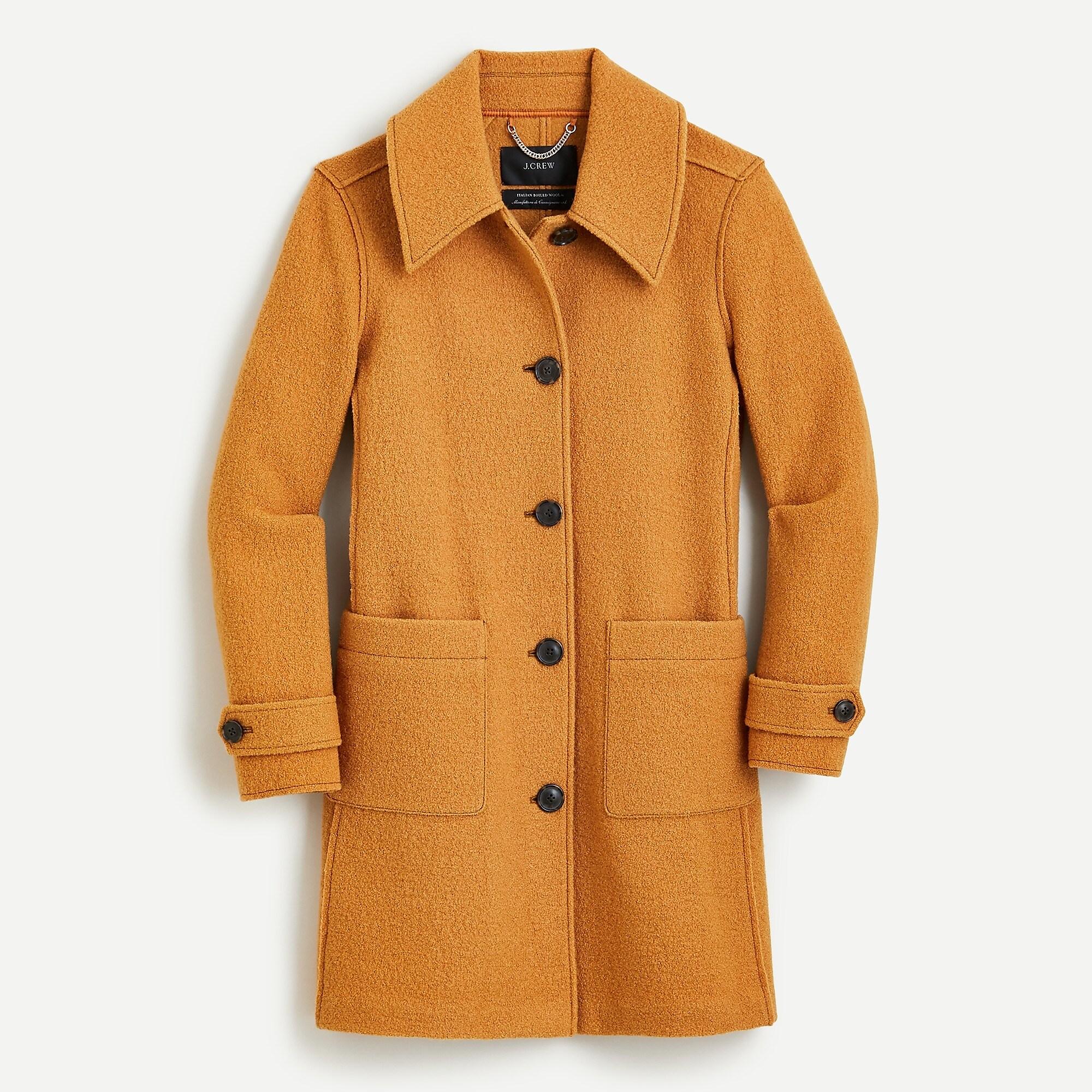 Lady coat in Italian boiled wool | J.Crew US