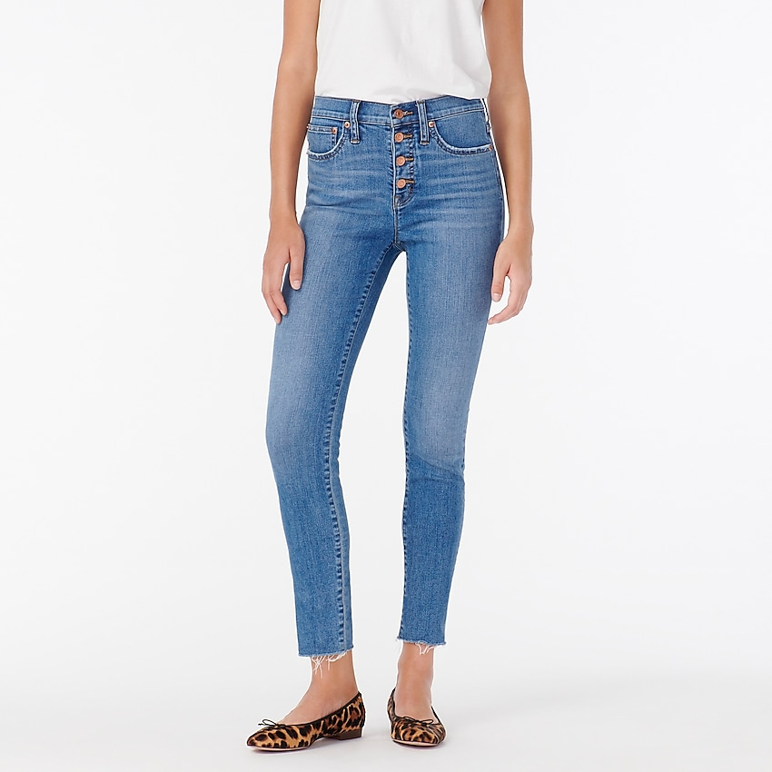 j.crew: 9 high-rise toothpick jean in buffalo wash for women, right side, view zoomed