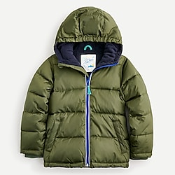 Kids' classic ripstop puffer coat with eco-friendly PrimaLoft®