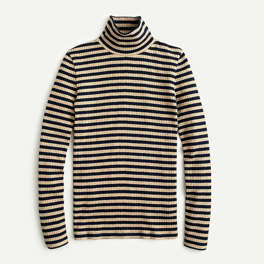 j.crew: ribbed long-sleeve turtleneck for women, right side, view zoomed