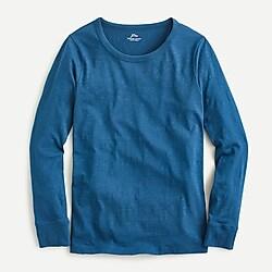 Vintage cotton crewneck long-sleeve T-shirt