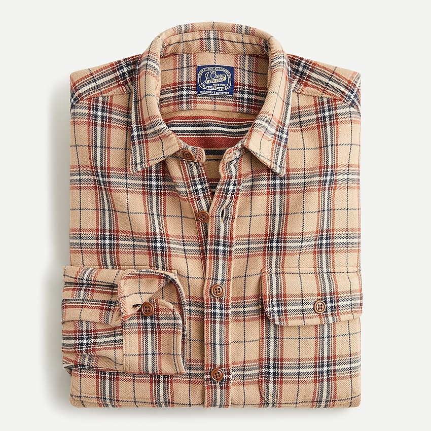 j.crew: heavyweight blanket cloth shirt-jacket for men, right side, view zoomed
