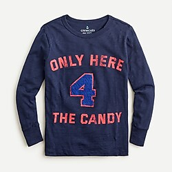 "Kids' ""Only here 4 the candy"" T-shirt"
