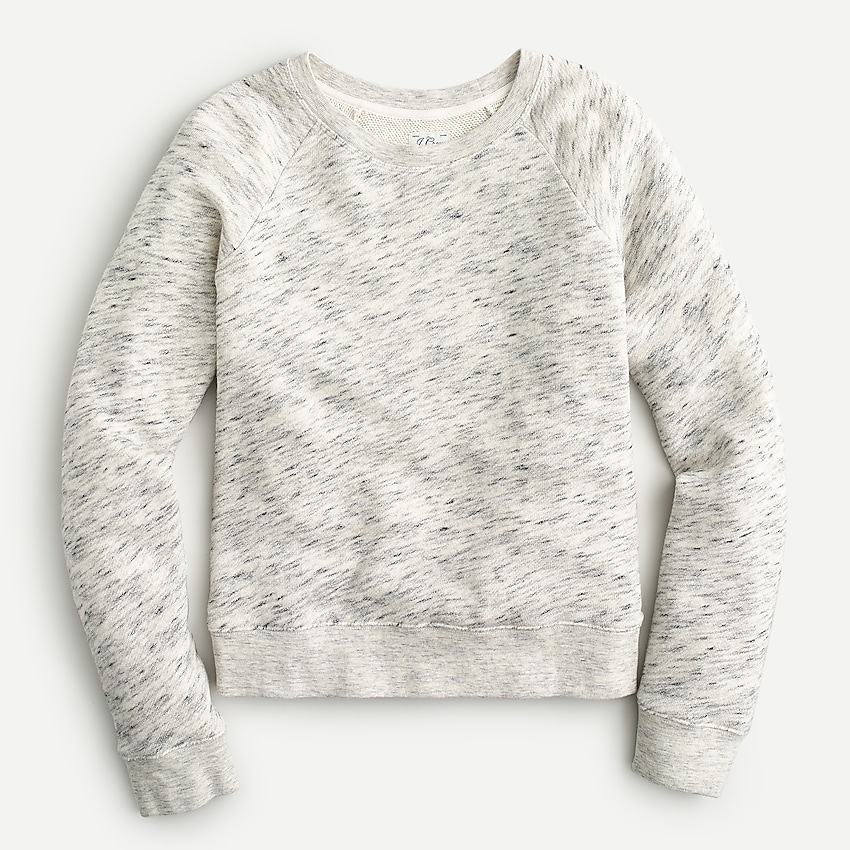 j.crew: vintage cotton terry crewneck pullover in speckle for women, right side, view zoomed