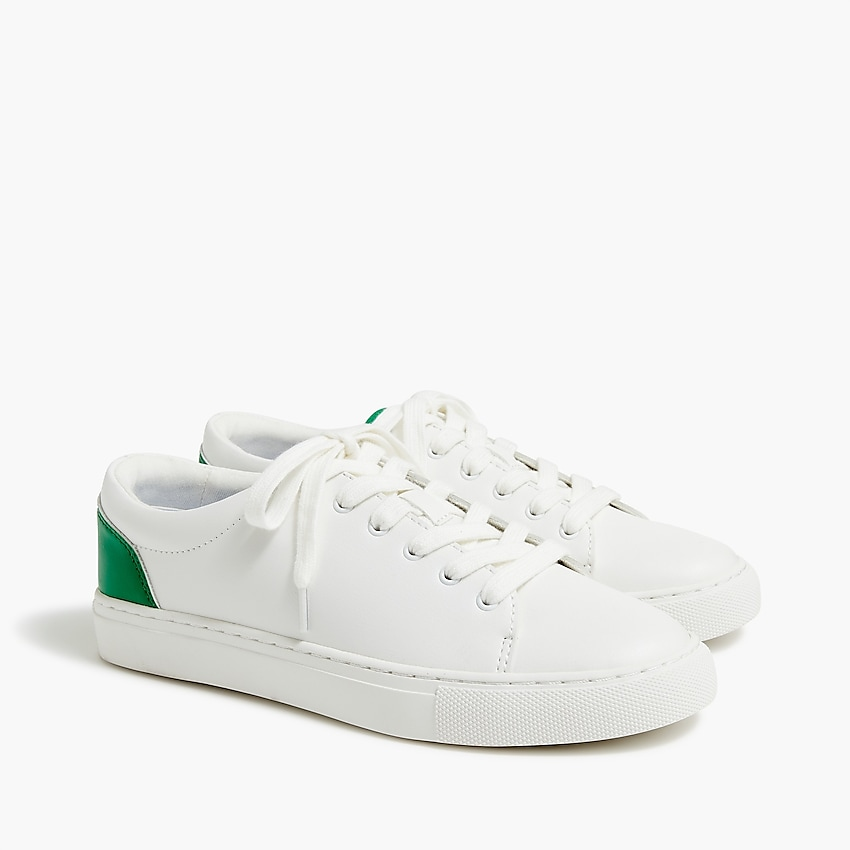 factory: road trip sneakers with colorful trim for women, right side, view zoomed
