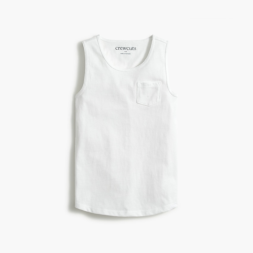 factory: girls' pocket tank top for girls, right side, view zoomed