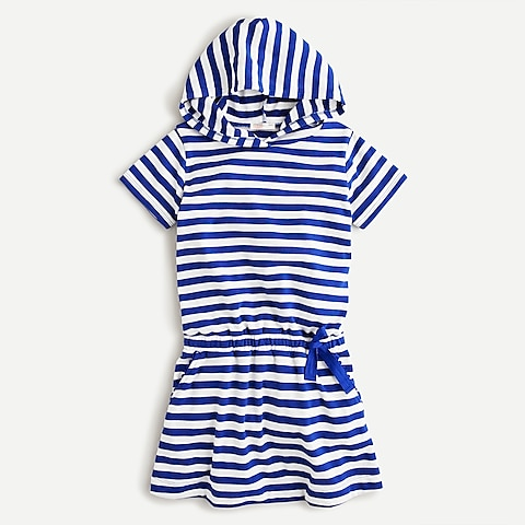 girls Girls' hoodie dress in terry-cloth with UPF 50