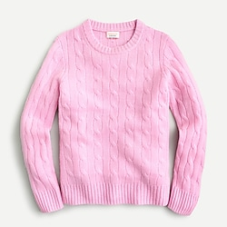 Kids' cable-knit cashmere sweater