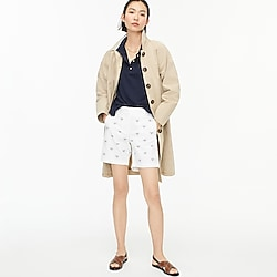 """7"""" chino short with tennis racket embroidery"""
