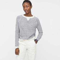 Reversible cashmere crewneck sweatshirt