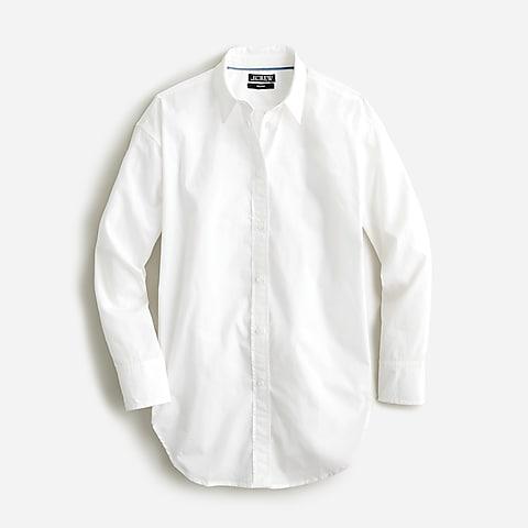 womens Relaxed-fit crisp cotton poplin shirt