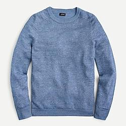 Plaited linen-cotton sweater