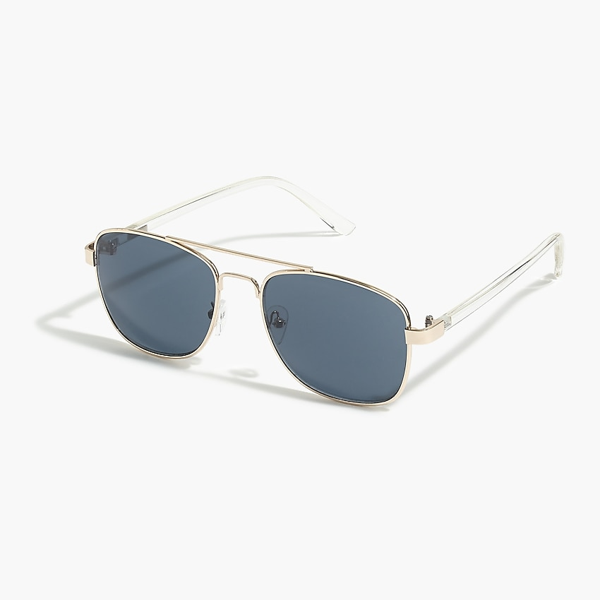 j.crew factory: square-frame aviator sunglasses for men, right side, view zoomed