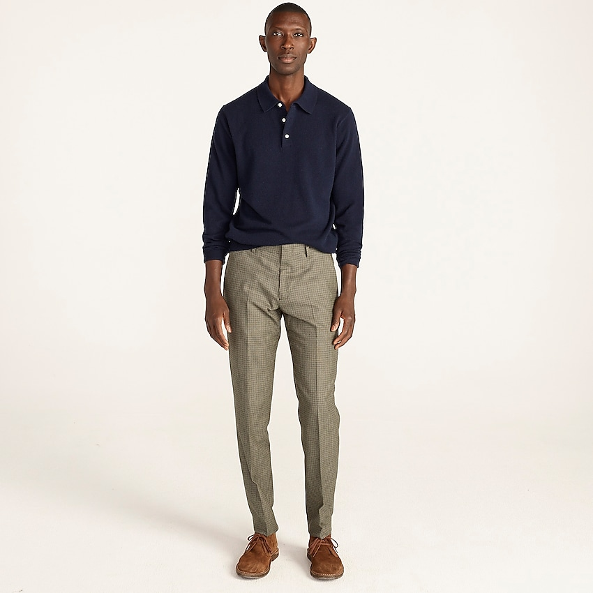 j.crew: ludlow slim-fit suit pant in english wool-cotton for men, right side, view zoomed