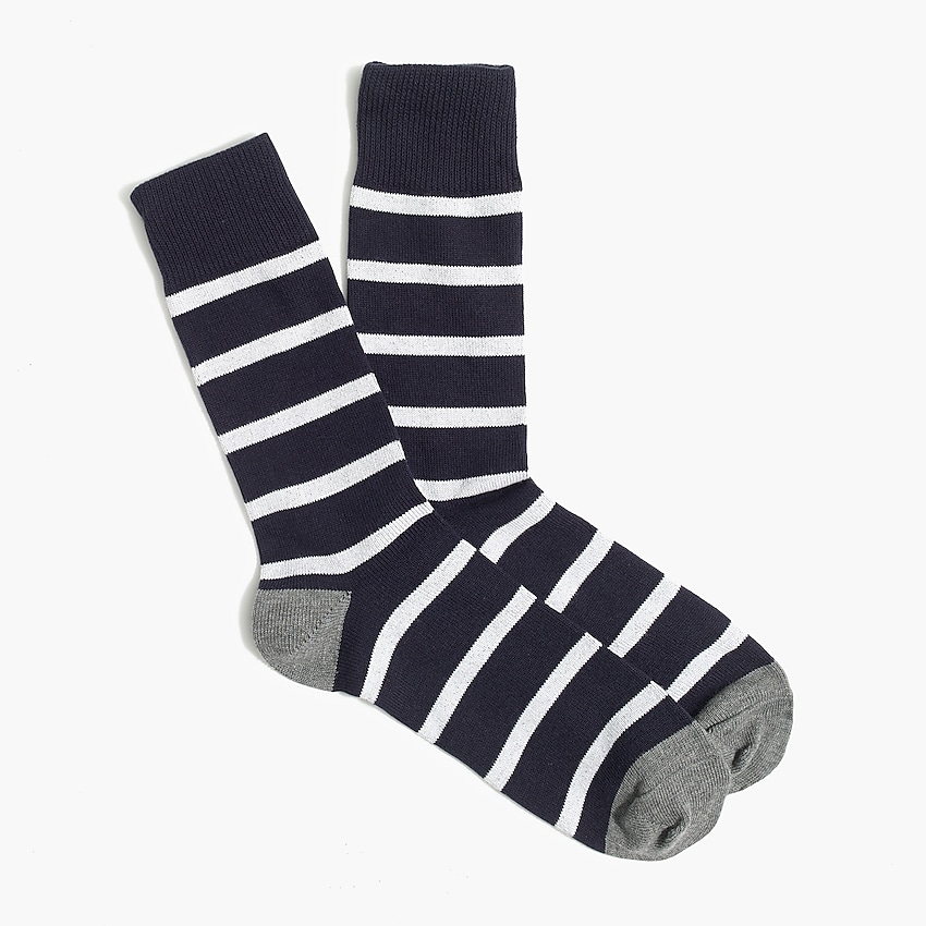 j.crew factory: striped socks for men, right side, view zoomed