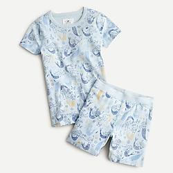 Girls' printed short-sleeve pajama set