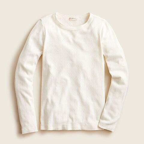 girls Girls' long-sleeve pointelle T-shirt