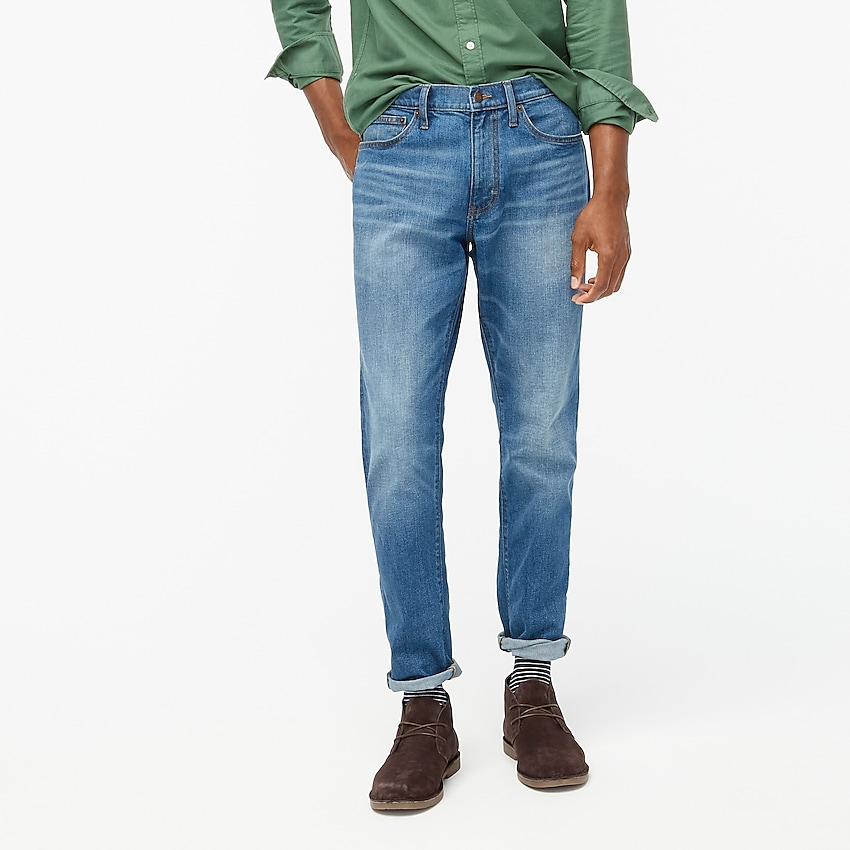 factory: athletic slim-fit jean in signature flex for men, right side, view zoomed