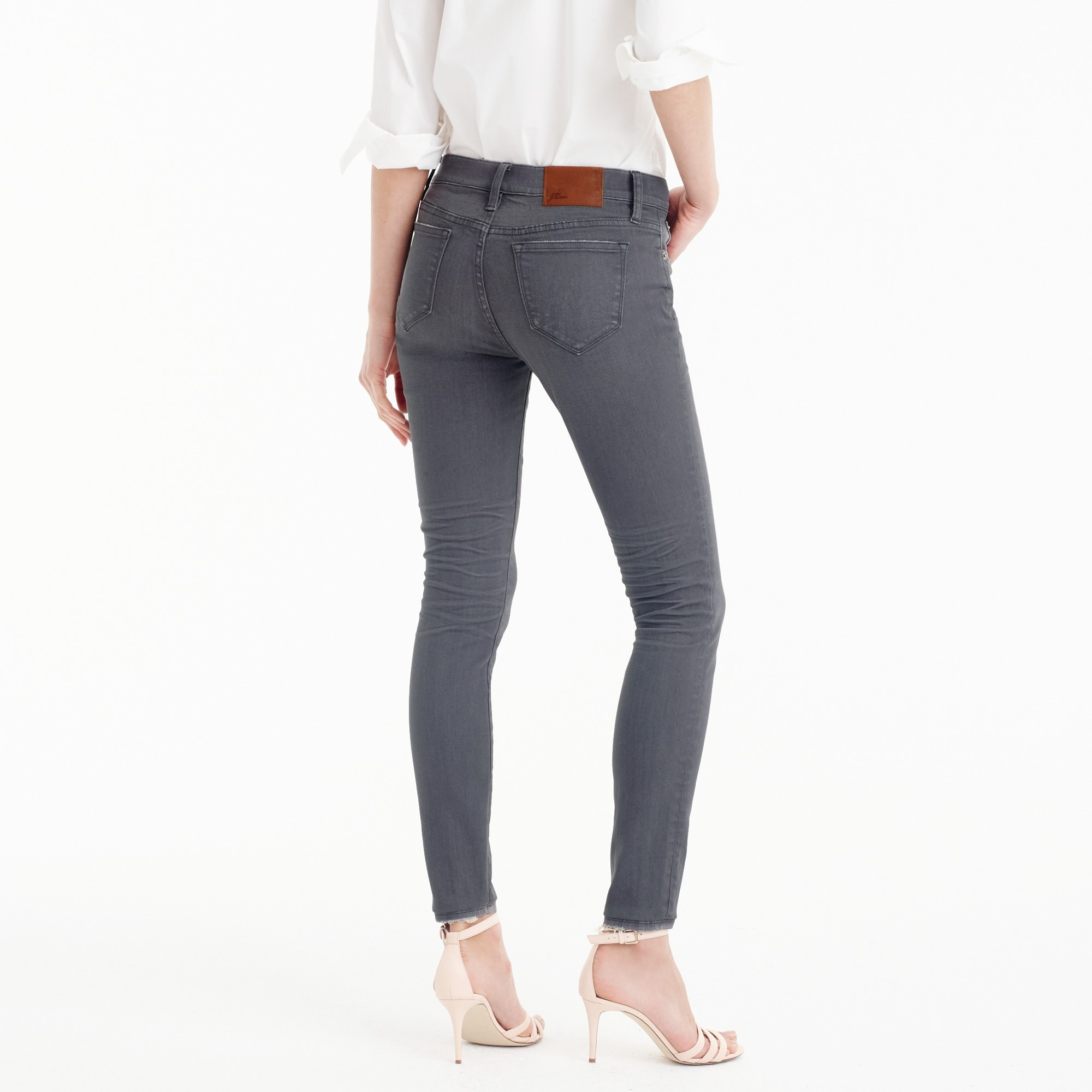 "Image 3 for Petite 8"" toothpick jean in grey"