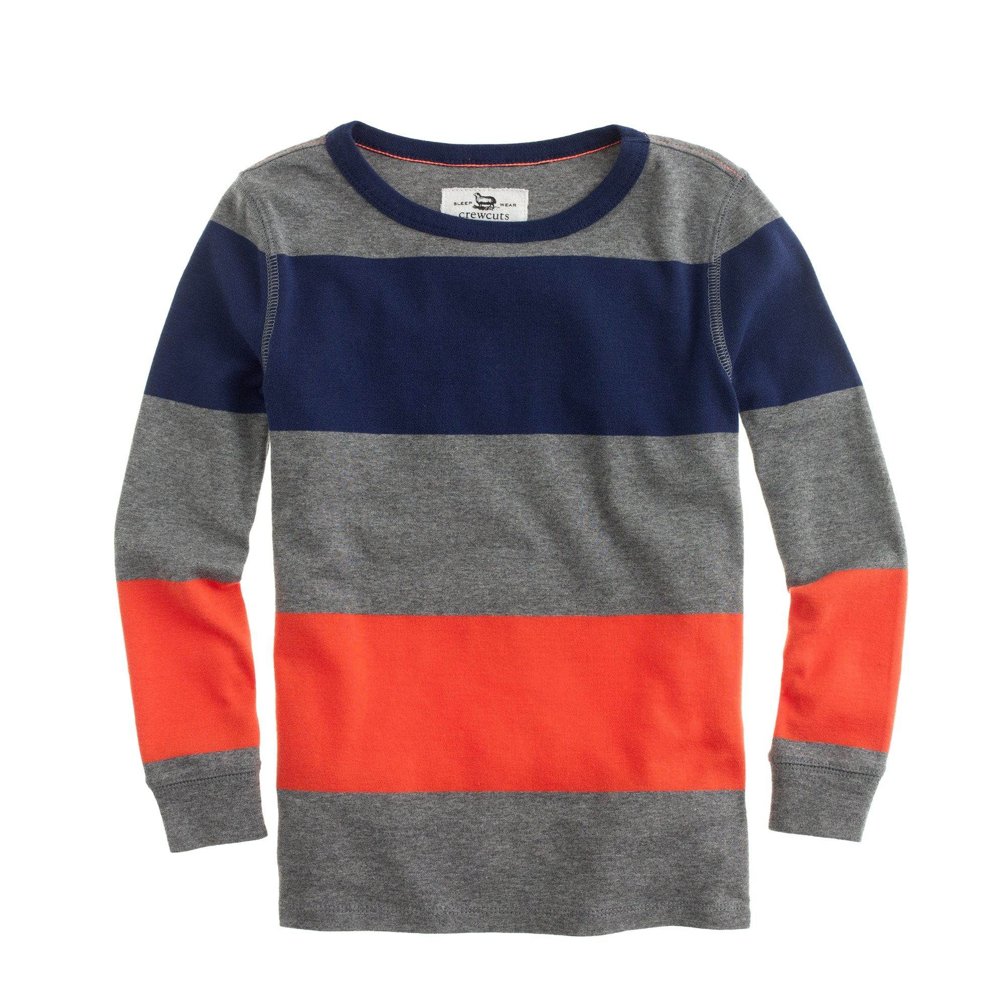 Boys' pajama set in flannel stripe