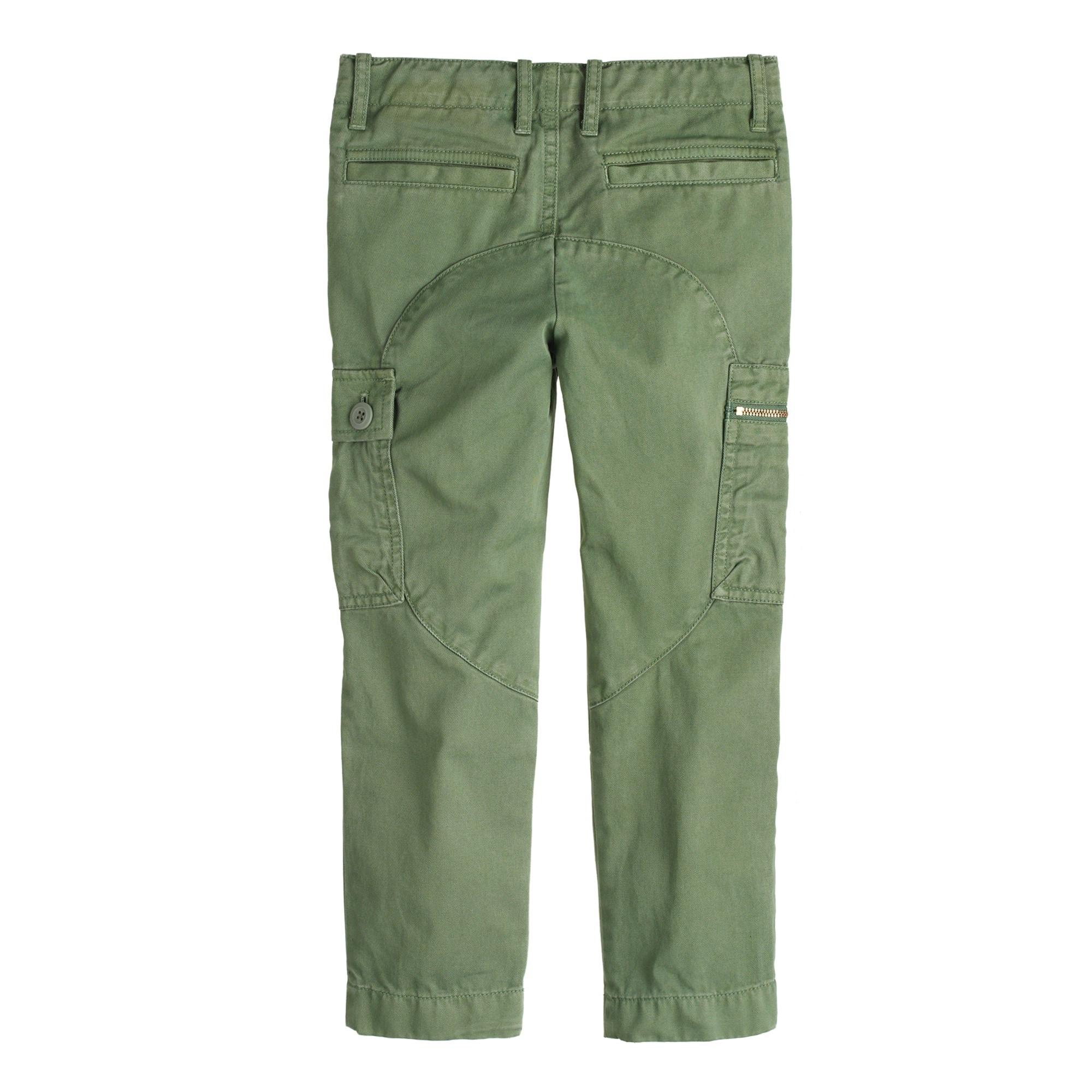 Boys' slim sun-faded cargo pant