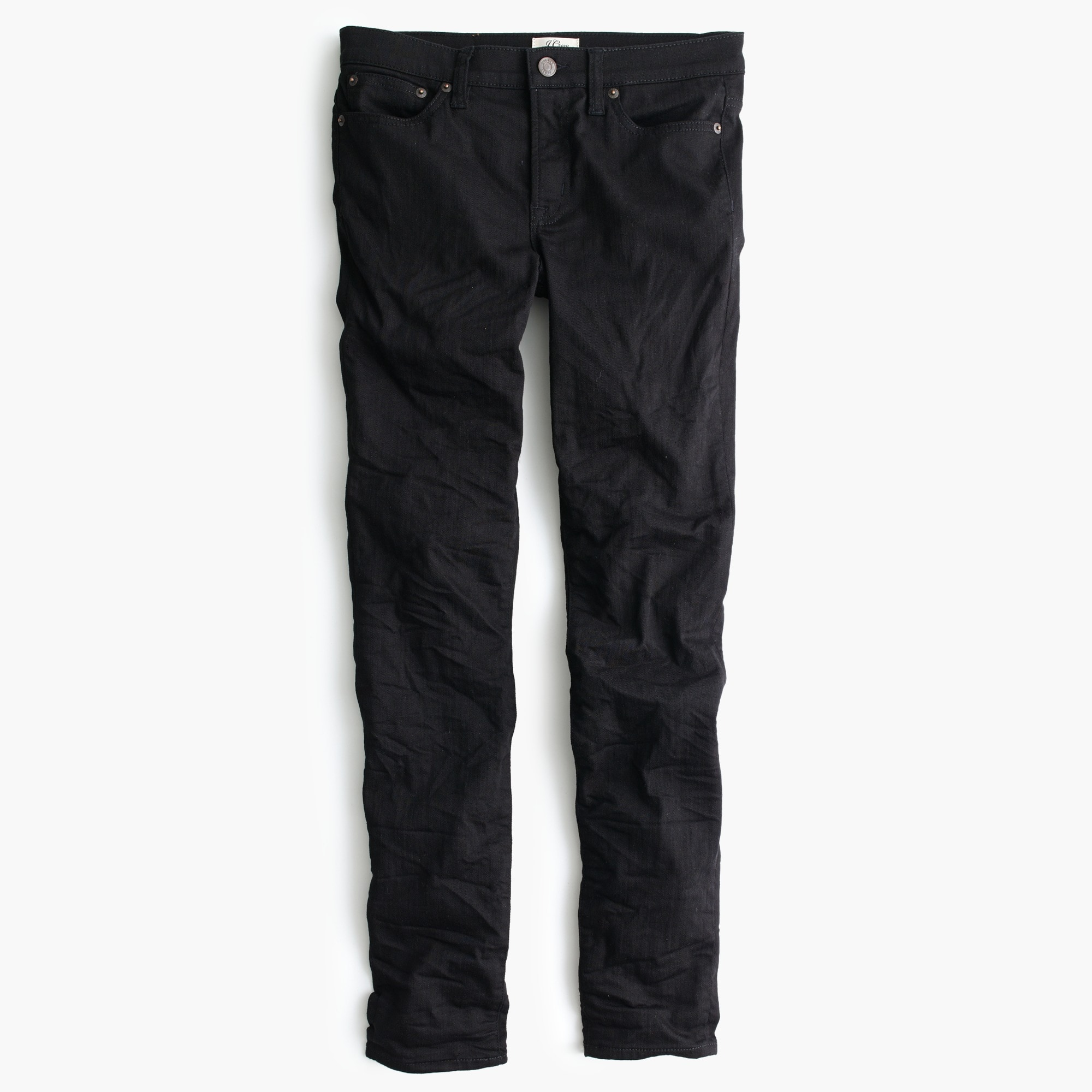 "Tall 8"" toothpick jean in black"