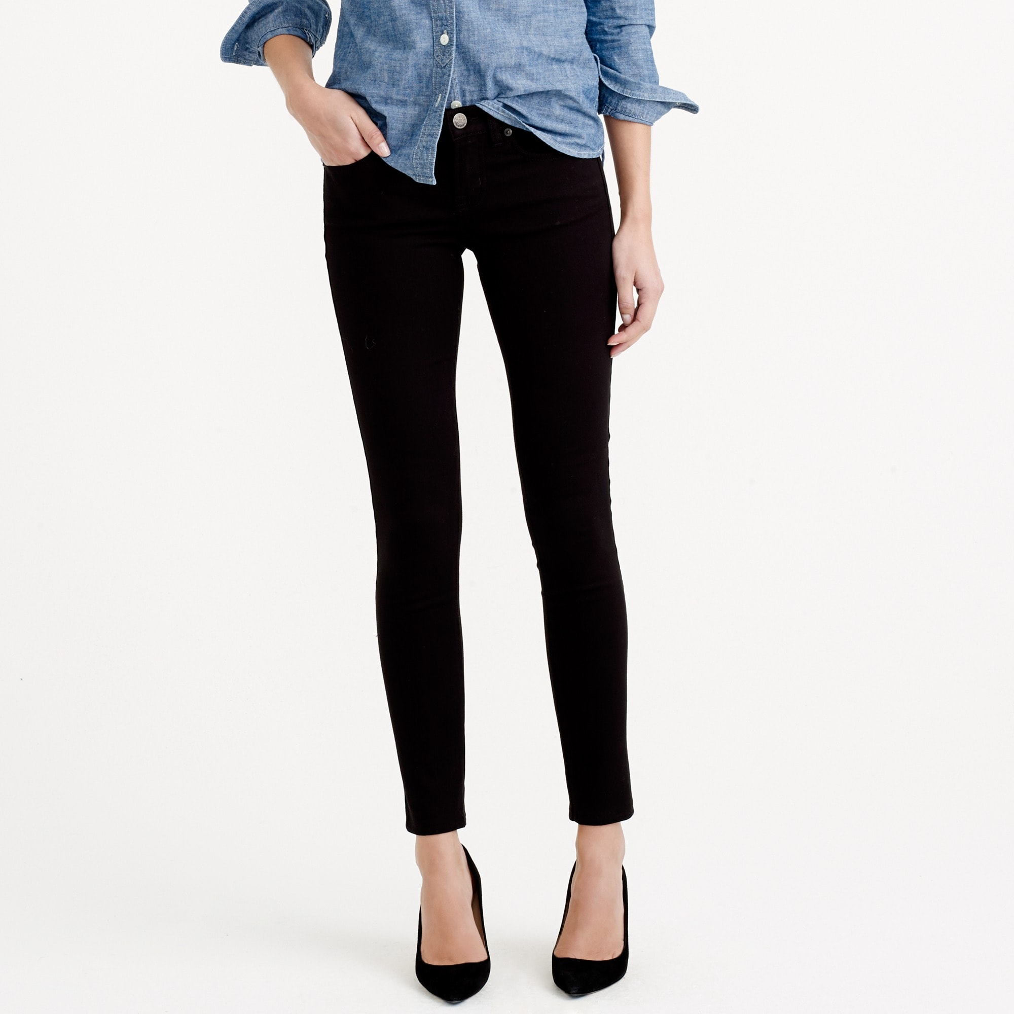 toothpick jean in black : women's jeans
