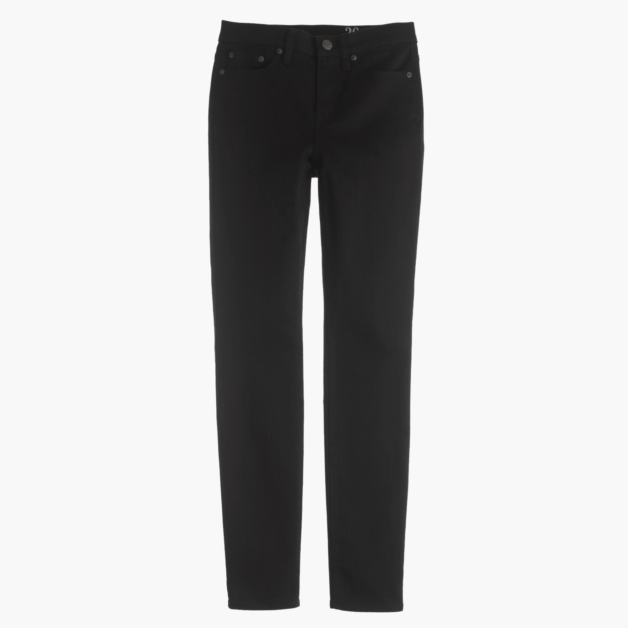"Petite 9"" high-rise toothpick jean in black"