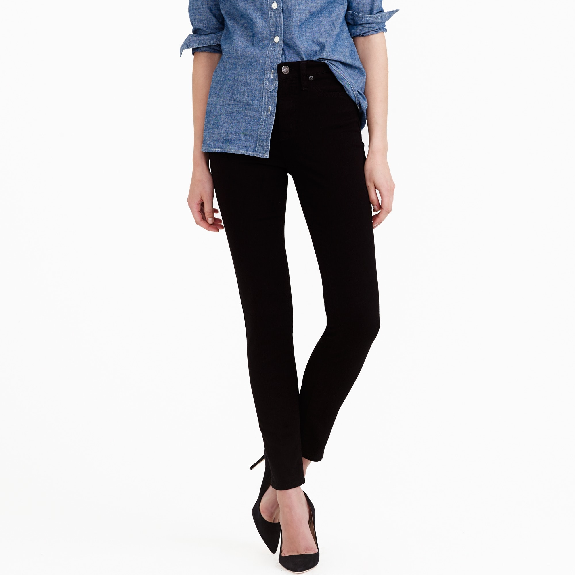 petite lookout high-rise jean in black : women's jeans